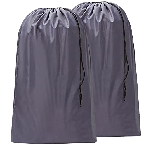 HOMEST 2 Pack Large Nylon Laundry Bag, Machine Washable Large Dirty Clothes Organizer, Easy Fit a Laundry Hamper or Basket, Can...