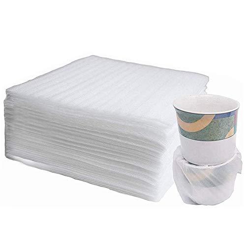 50 pièces Film papier bulles rouleau, Papier bulle, film bulle, emballage en mousse 20x15 cm, pour Cartons Déménagement Vaisselle, Plats, Assiettes, Verres Emballage