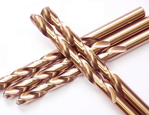 HSS Cobalt Drill Bits 15/32 in.x 5-3/4 in.Jobber Length M35 Twist Drill Steel Metal Iron-5Pcs