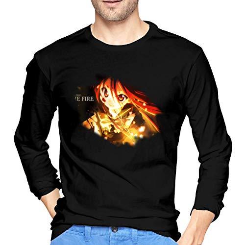 Chelsse Camiseta Manga Larga Mens Shakugan No Shana Long Sleeve T Shirt