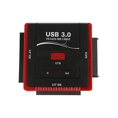 """H HILABEE USB 3.0 A IDE SATA 2.5""""/3.5 Pulgadas Unidad De Disco Duro HD HDD Convertidor Cable Adaptador"""