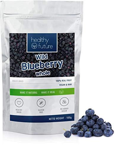 Bleuets sauvages lyophilisées 100% naturelles, sans gluten, sans sucre ajouté, sans conservateurs, collation saine aux fruits (100g)