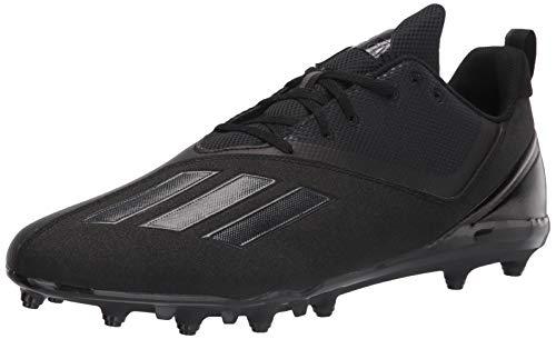 adidas Men's Adizero Spark Football Shoe, Black/Black/Grey, 7