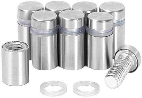 RuoFeng Stainless Steel Wall Mount Glass Standoff Holder Screw Nails Advertising Nails 12 Pcs (16x20mm)