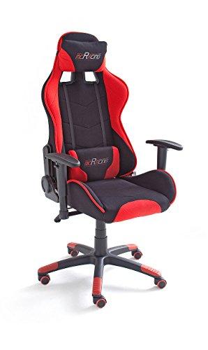 MC Racing 1, Gamingstuhl, Schreibtischstuhl, Bürostuhl, schwarz/rot, 62491SR3,