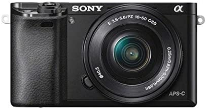 Sony Alpha a6000 Mirrorless Digital Camera with 16-50mm Power Zoom Lens (Renewed)
