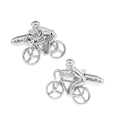 DOLOVE Gemelli Argento Camicia Uomo Gemelli per Matrimonio Bicicletta Gemelli Uomo Elegante