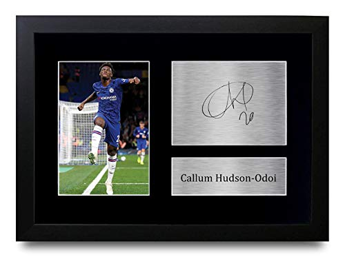 HWC Trading A4 FR Callum Hudson Odi Chelsea The Blues Gifts Printed Signed Autograph Picture for Fans and Supporters A4 Framed