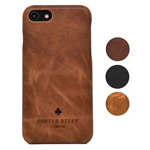 Porter Riley - Lederhülle für iPhone SE (2016) / iPhone 5/5s. Premium Ultra Dünn Echtleder Cover/Ledertasche/Backcover kompatibel mit iPhone SE/iPhone 5/5s (Hellbraun)