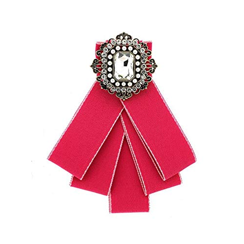 Sweet Deluxe Brosche Schmuckstein, antikgold/pink/Crystal I ausgefallene Blusenbrosche für Damen & Mädchen I Frauen-Brosche für Abendkleid & Bluse I Anstecknadel