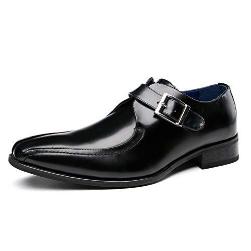 FRWANG Zapatos Derby Oxford de cuero para hombres con cordones, vestido de...