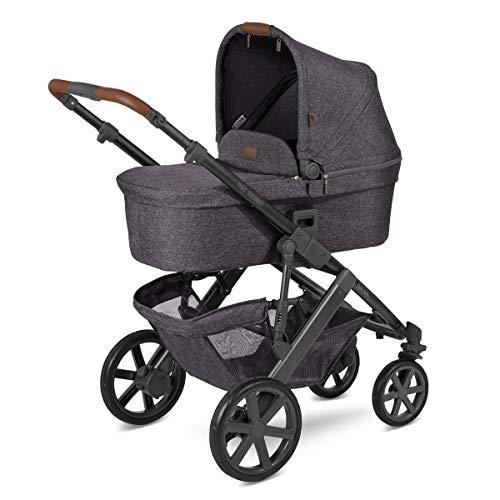 ABC Design Kinderwagen Salsa 4 – Kombi-Wagen für Neugeborene & Babys bis 22kg – Inkl. Sportsitz & Tragewanne – Kleines Faltmaß & besonders leicht – Farbe: Street