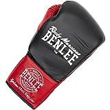 BENLEE Rocky Marciano Unisex - Guantes de Cuero para Adultos, Color Negro y Rojo, Talla L