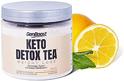 Gen Boost - 30 Day Weight Loss & Cleanse - Powdered Keto Detox Tea - Support Metabolism & Ketosis from Genboost