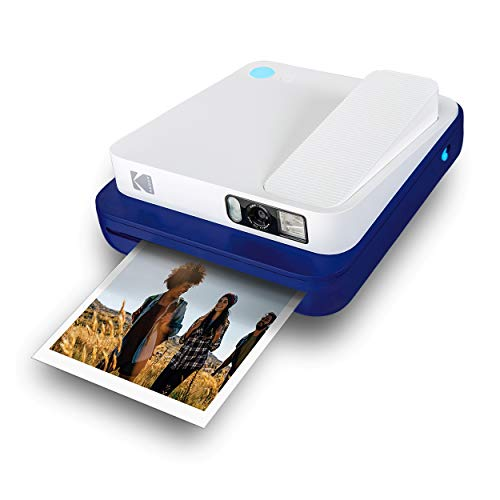 "KODAK SMILE Classic Cámara Instantánea Digital c/Bluetooth, 16MP, 35 impresiones p/carga, Incluye papel ZINK 3,5 x 4,25"", marcos con stickers, Azul"