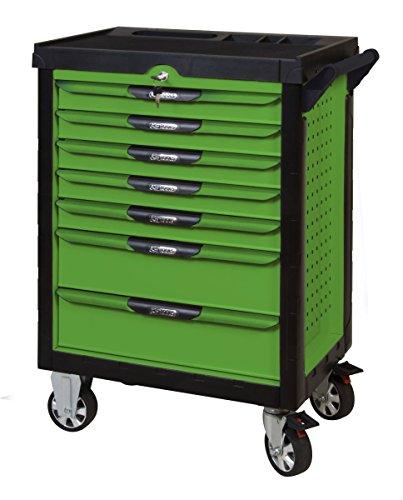 KS Tools 817.0007pearlline Werkstattwagen 7Schubladen grün