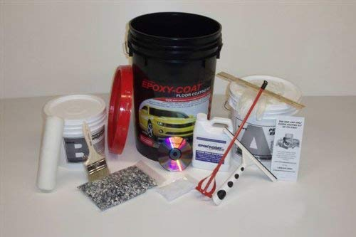 EPOXY-COAT Full KIT Smoke Blue UP to 500 SF KIT
