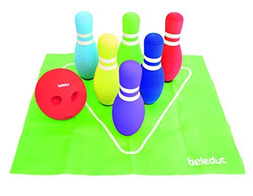 Beleduc 67070 - Bowling Set, Indoor und Outdoor nutzbar, Bewährt im Kindergarten