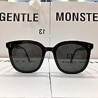 gentle_ women mon_ man GM FLATBA oversized Unisex Polarized Sunglasses Classic Men Retro UV400 Sunglasses for MY MA - black