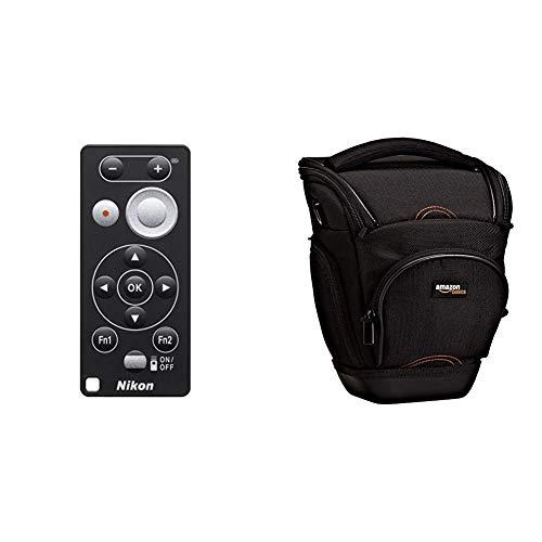 Nikon ML-L7 Bluetooth Fernbedienung und Amazon Basics SLR-Schultertasche (schwarz)