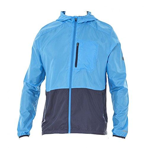 ASICS Packable - Abrigos y chaquetas (Azul, Masculino, Chaqueta, Adulto, S, SML)