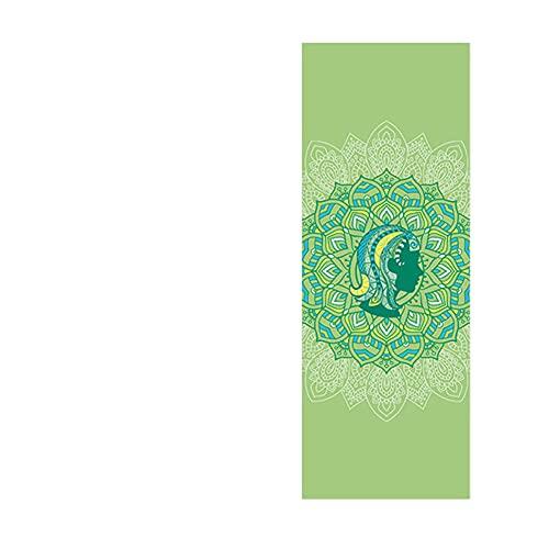 POMNEFE 173 * 61 cm Estera de Yoga para Fitness Estera de 6 mm para Principiantes, Baile, Yoga, Pilates, Estera de Ejercicio, Bolsa de Yoga