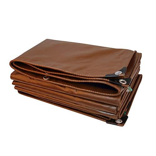 Hochleistungsregen-Plane, 10x10 verstärkte Brown-wasserdichte Planen-Abdeckungen im Freien für Auto-Pool-Zelt, UV-beständige, verrottende und reißfeste Plane