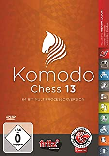 Komodo 13 Chess Playing Software Program, World Champion Bundled With ChessCentral's Art of War For Windows PC