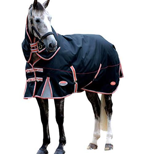 Weatherbeeta Comfitec Turnout Blanket Premier with Therapy-Tec Detach-A-Neck Medium Black/Red/Silver 84