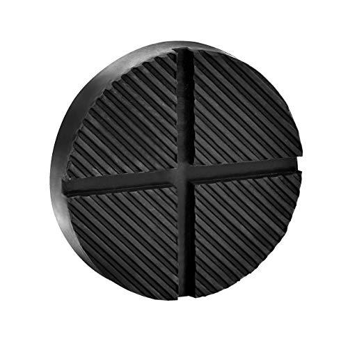 DEDC Wagenheber Gummiauflage mit Nut und Profil Schwarz Unterstellbock Gummiblock Für Wagenheber und Hebebühnen (1 Pcs)