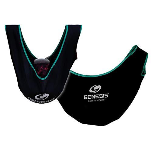 Genesis Bowling Ball Poliertuch, Poliersack, Giant See Saw Deluxe, Bowlingball Reiniger, Balltasche,(Black/Teal)