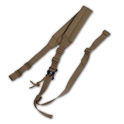 KRYDEX Tactical 2 Point Sling Rifle Sling Wide Durable Shoulder Padded Strap,Length Adjustable (Coyote Brown)