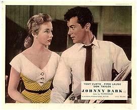 Johnny Dark Original Lobby Card Tony Curtis Piper Alurie