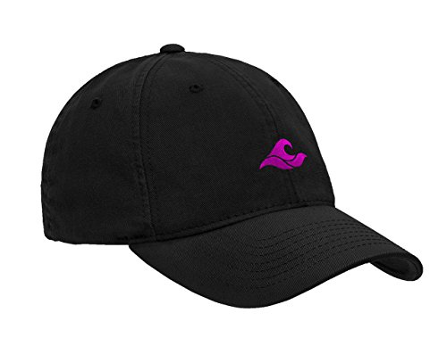Koloa Surf Wave Logo Soft & Cozy Adjustable Baseball Cap-Black/Pink