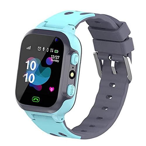 FeelMeet Niños Reloj Inteligente P16 Impermeable de la muñeca Juego SmartWatch perseguidor de la localización Inteligente con Alarma de la cámara del Reloj SOS para Niños Niñas Azul