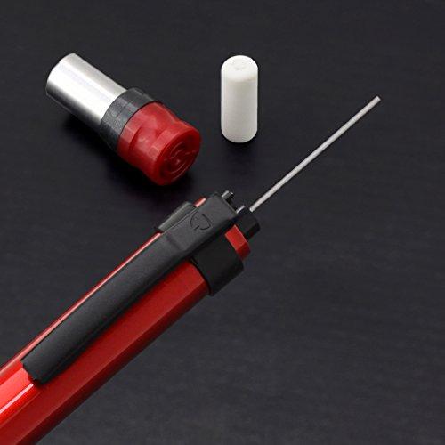 『ゼブラ シャープペン デルガード タイプLx 0.5 限定色 メタリックレッド A-MA86-Z-MTR』の5枚目の画像