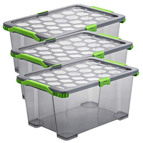 41fNfaeBIpL - Rotho Country 3er-Set Aufbewahrungsbox 6l in Rattan-Optik, Kunststoff (PP) BPA-frei, weiss, 3 x A5/6l (28,0 x 18,5 x 12,6 cm)
