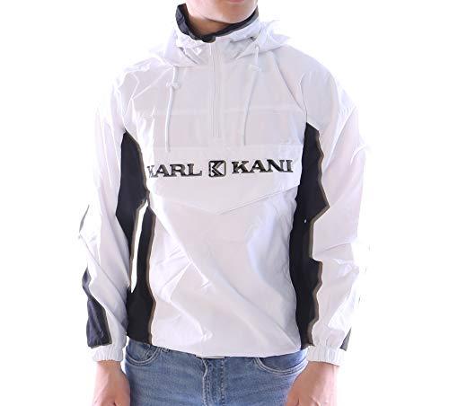 Karl Kani Retro Block - Chaqueta cortavientos, Hombre, blanco/negro, extra-small