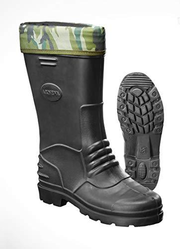 Westfalia Eva Gummistiefel, Farbe schwarz mit Camouflage Socke, Gr.41