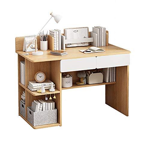 VBARV Mesa del Ordenador de Escritorio con Almacenamiento Lateral, multipropósito computadora de Oficina Escritorio, extraíble gaveta de Almacenamiento, Espacio de Almacenamiento Diversified