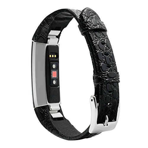for Fitbit Alta Band Leather, AISPORTS Fitbit Alta HR Band Leather Band Smart Watch Adjustable Replacement Bands Metal Classic Bracelet Buckle Clasp for Fitbit Alta/Fitbit Alta HR Fitness Accessories