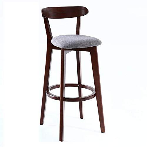 FENG Barstoel/kruk met rugleuning Vintage massief hout eettafel stoel/bureaustoel/hoge kruk/familie/woonkamer bruin FFN
