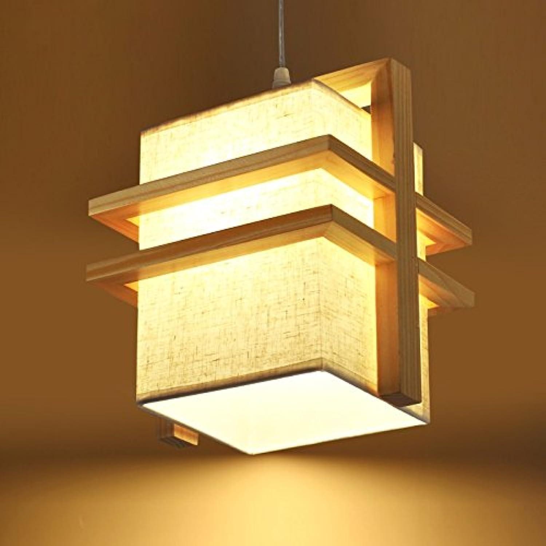 SJUN Nordische Minimalistischen Holz Kronleuchter Japanisches Restaurant Esszimmer Leuchtet Kreative Flur Balkon Gang Leuchten,Einkopf