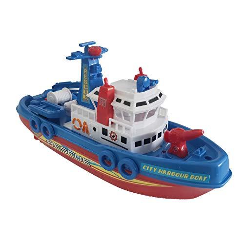 Zeagro Marine Feuer Boot Schiff Boot Elektrisches Spielzeug Blinklicht LED Lichter Geräusche Kinder Geschenk 1 Stück