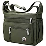 Fabuxry Purses and Shoulder Handbags for Women Crossbody Bag Messenger Bags (Green)