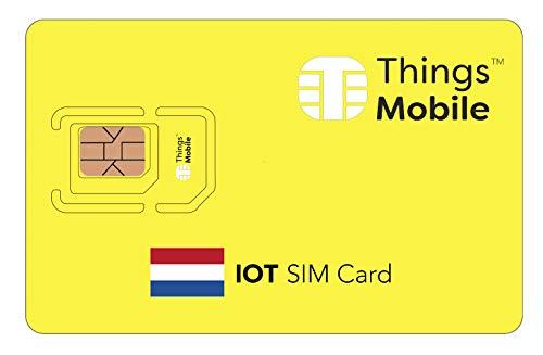 SIM-Karte für IOT NIEDERLANDE - Things Mobile - weltweite Netzabdeckung, Mehrfachanbieternetz GSM/2G/3G/4G, ohne Fixkosten. 10 € Guthaben inklusive