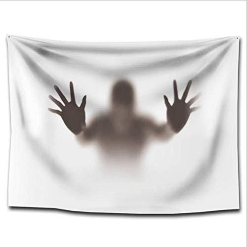 ZMZZF Wandteppiche,Charakter Schatten Wohnzimmer Schlafzimmer Wandbehang Camping Zelt Reise Schlafsack Verdickung (130 * 150 cm Weiß)