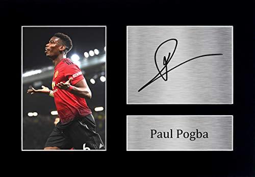 HWC Trading Paul Pogba A4 Sin Marco Regalo De Visualización De Fotos De Impresión De Imagen Impresa Autógrafo Firmado por Manchester United Los Aficionados Al Fútbol