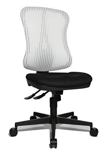 Topstar Head Point SY ergonomischer Bürostuhl, Schreibtischstuhl, Muldensitz (höhenverstellbar), Stoffbezug weiß / schwarz