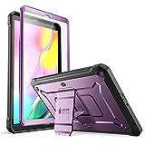 SUPCASE Coque Galaxy Tab A 10,1, Coque de Protection Intégrale à Double Couche avec Protecteur d'écran Intégré + Béquille Unicorn Beetle Pro pour Galaxy Tab A 10,1 Pouces 2019 (Violet)